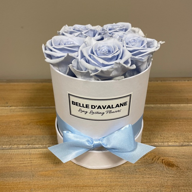 Box rd 12cm wit-lavendel