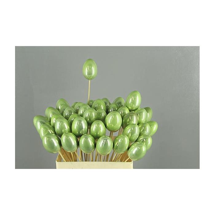 <h4>Stick Egg Pearl Green 7cm</h4>