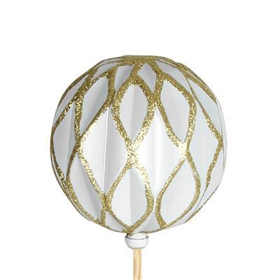 <h4>Bijsteker kerstbal Shaped Ø6cm+50cm stok goud</h4>