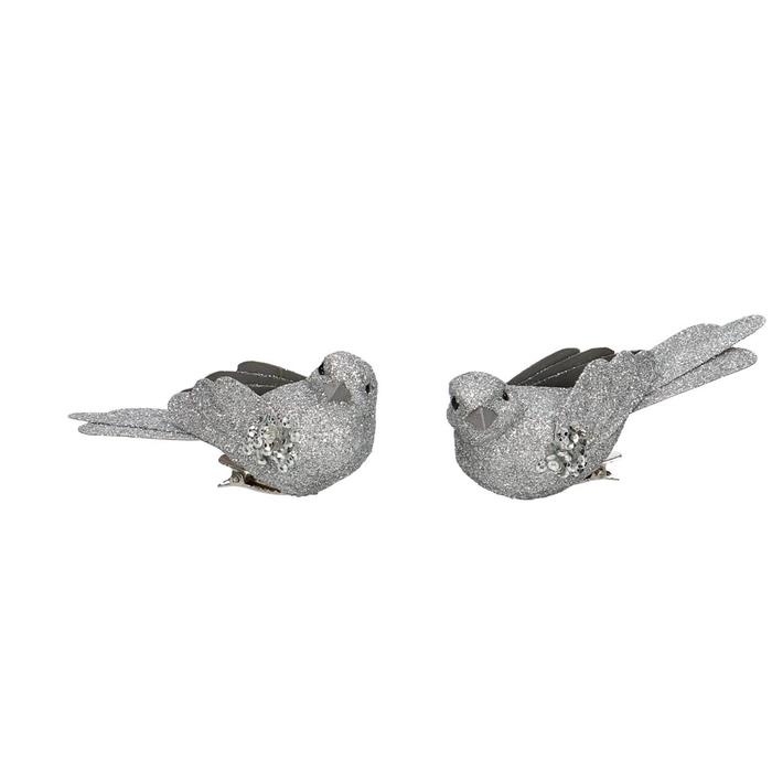 <h4>Voorjaar Vogel glitter+clip 9cm</h4>