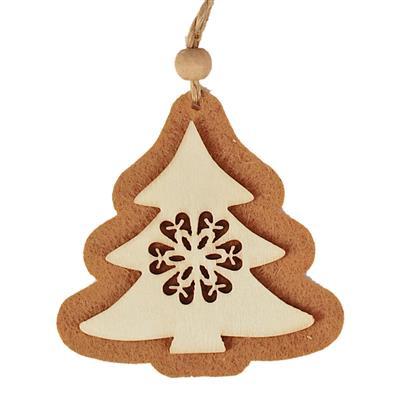 <h4>Pendentif arbre de Noël 8x8cm+16cm corde</h4>