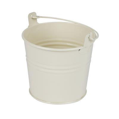 <h4>Bucket Sevilla zinc Ø10,3xH8,5cm - ES9 cream gloss</h4>