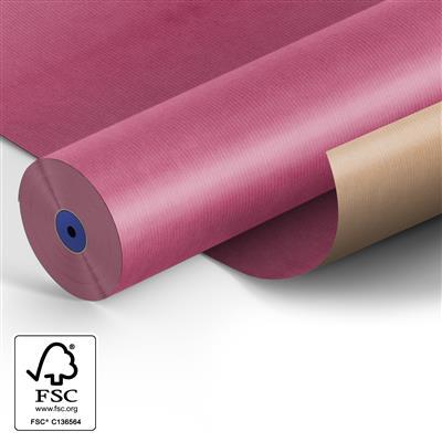 <h4>Papier: 50cm br. kraft 50gr Fond cyclaam 400m.</h4>