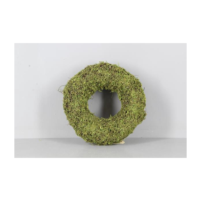 <h4>Wreath Moss(dried) Ø25x7cm Grn</h4>