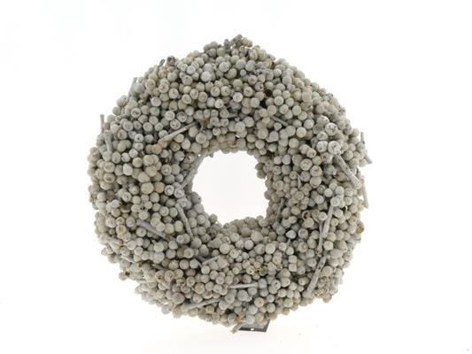 <h4>Wreath Acorn Ø38cm Whitewash</h4>