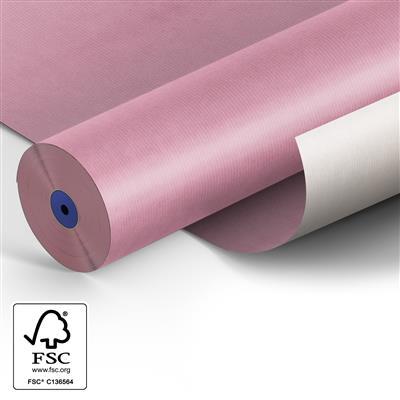 <h4>Papier 50cm Kraft blanc 50gr  rose fond 400m.</h4>