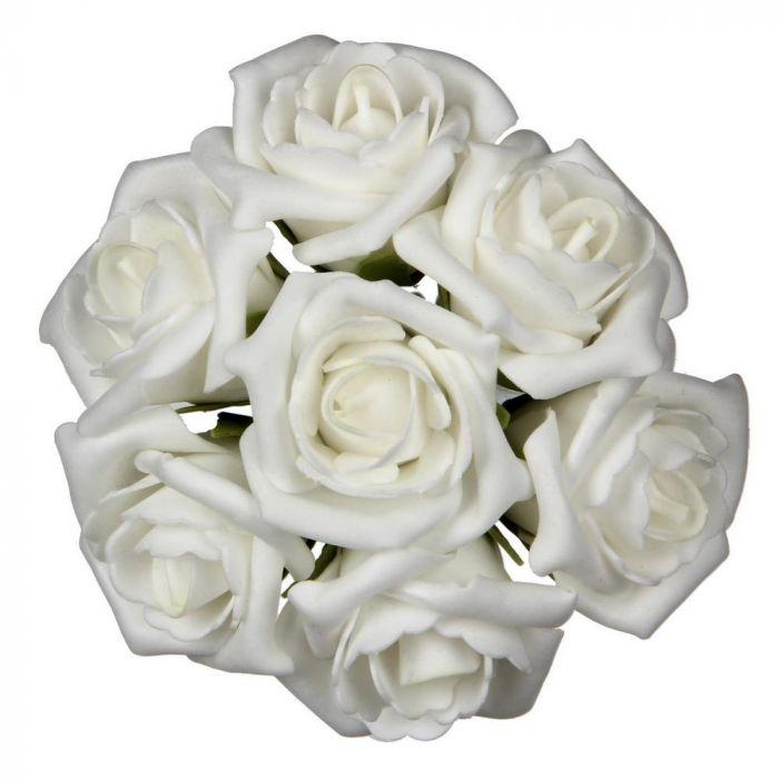 <h4>FOAM ROSE WHITE 6CM 42PCS</h4>