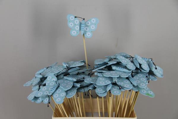 <h4>Stick Butterfly Wooden Blue</h4>