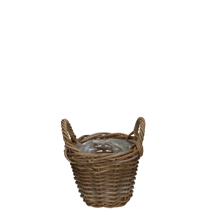 <h4>Baskets Rattan pot+handle d22*16cm</h4>