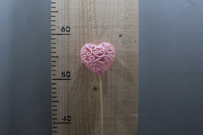 <h4>HEART BAROK PINK O/S H50 25PCS 260.2462</h4>