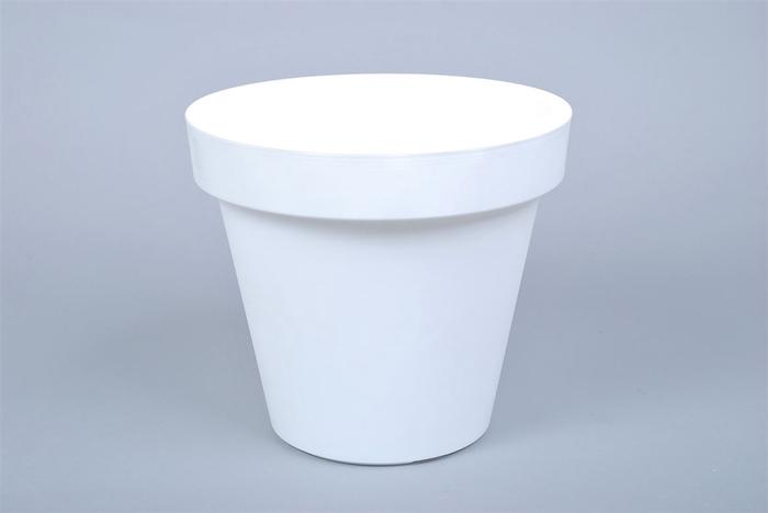 <h4>Kunststof Pot Wit Brede Rand 25cm</h4>