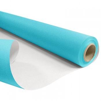 <h4>Papier Rol 80cm 40m 60g Wit/Turquoise</h4>