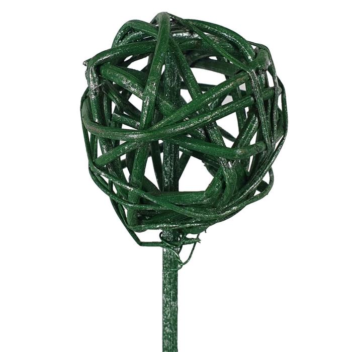 <h4>Bruce ball 5cm on stem Metalic antique green</h4>