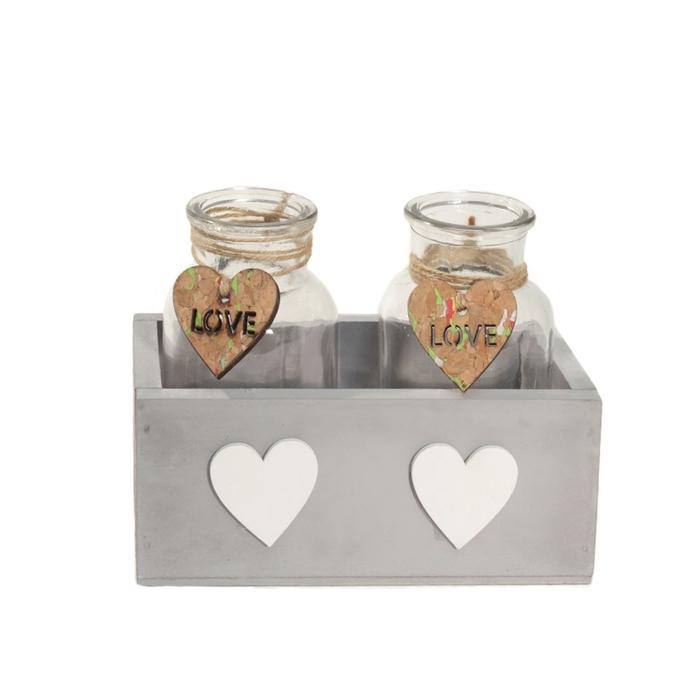 <h4>Glas Bak 2fles hart d6.5*12.5cm</h4>