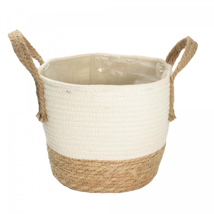 <h4>Manden Pot touw+katoen d22*19cm</h4>