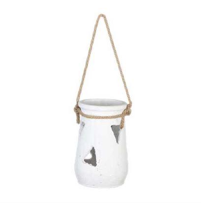 <h4>DF883818900 - Lantern terracotta h21.5 white</h4>