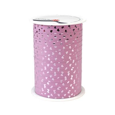 <h4>Krullint 10mm x100m  hartje roze 100% recy</h4>