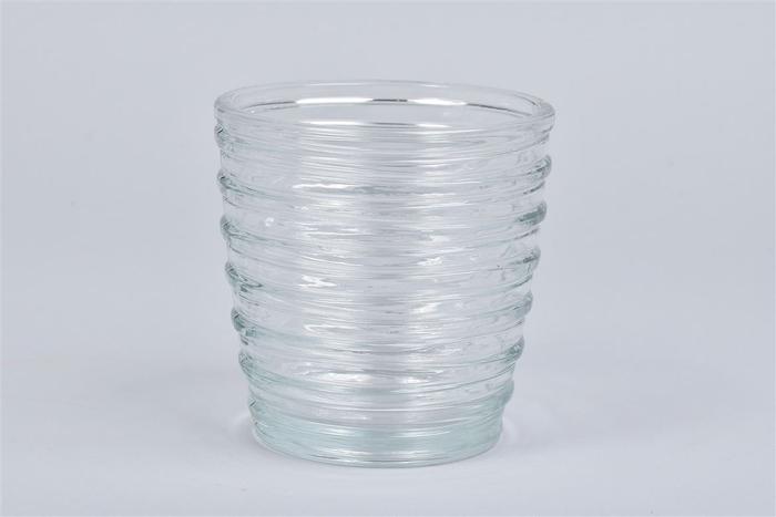 <h4>Glas Pot Ribbel 13x13cm</h4>