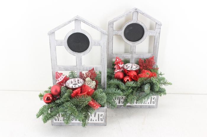 <h4>arr.. Kerst PL - Huis sweet home rood</h4>