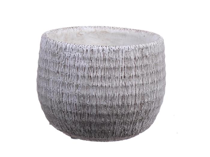 <h4>DF550110137 - Pot Bory d12.5/13.4xh10.5 white</h4>