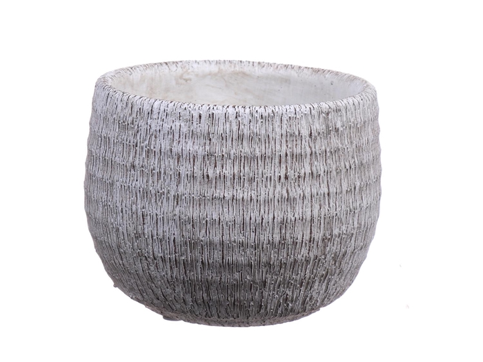 <h4>DF550110147 - Pot Bory d14.2/15.4xh12.8 white</h4>