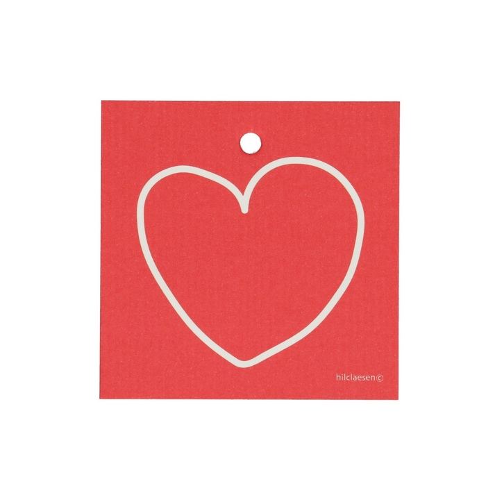 <h4>Labels Cards 70mm x25 White heart</h4>