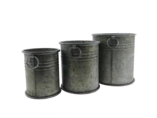 <h4>Planter Zinc Bucket Ø23cm S/3</h4>
