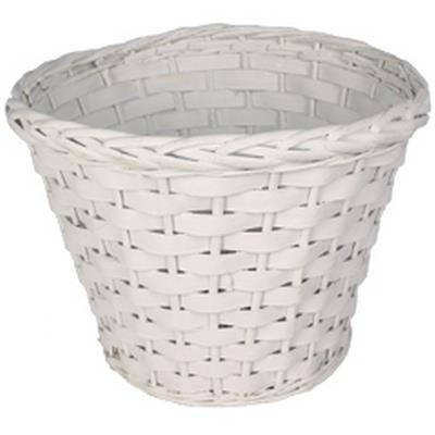 <h4>Pot Manille bois bar/saule ES21xH19 cm blanc</h4>