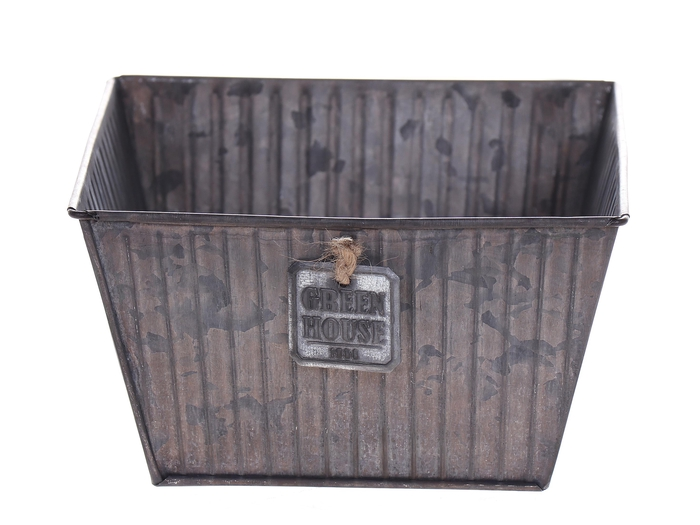 <h4>DF500063400 - Planter Tinco 15.5x15.5x9 grey</h4>