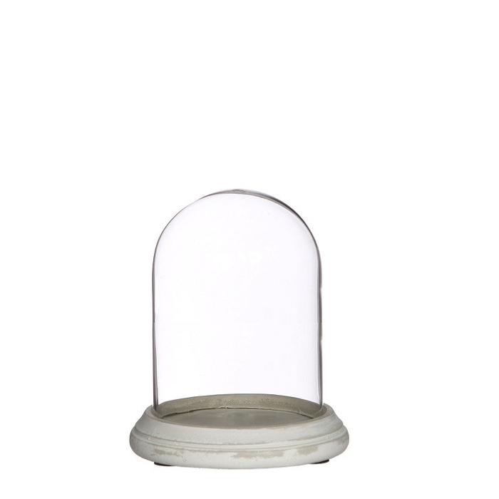 <h4>Glass Cloche+cement d12.5*16.5cm</h4>