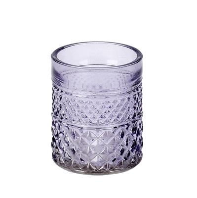 <h4>Pot Maputo glas Ø7xH8.5cm lila</h4>