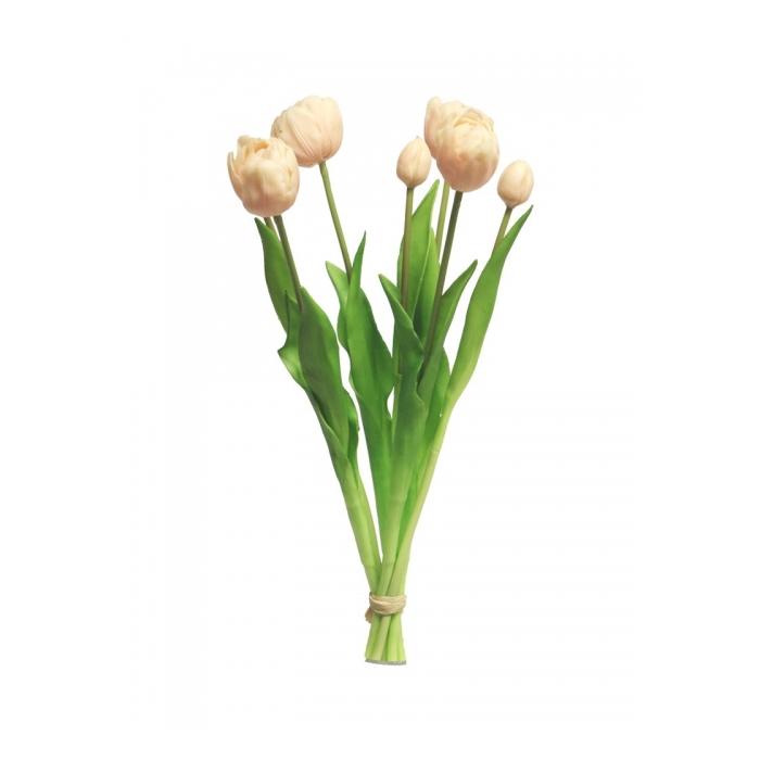 <h4>SILK FLOWERS - TULIP BUNDLE SALLY SOFT PINK 44CM 7PCS</h4>