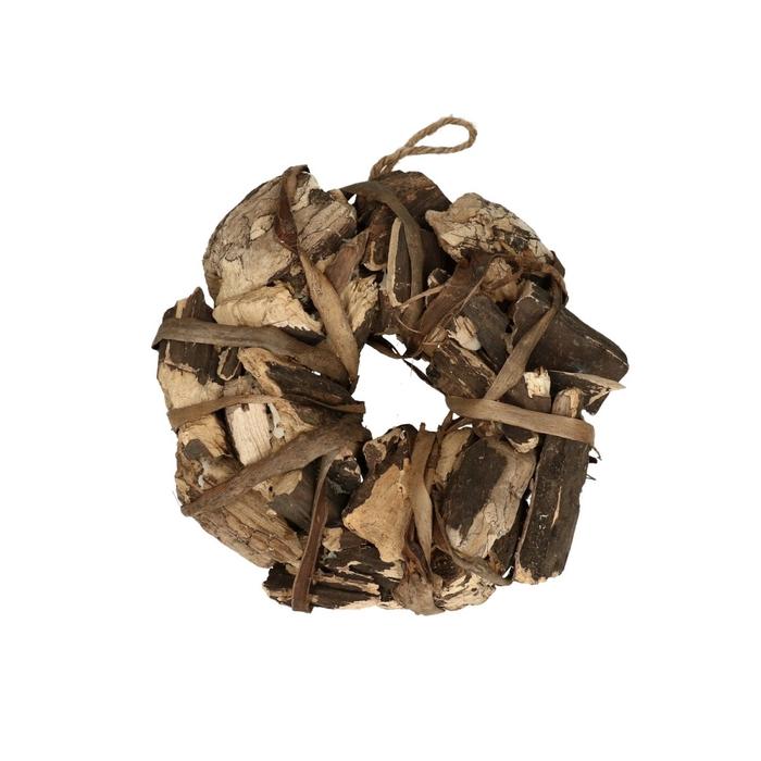 <h4>Wreath d24cm Oldwood treebark</h4>