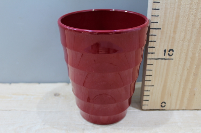 <h4>ORCHID POT RIBBEL WINE RED  H17 D14 31.287</h4>