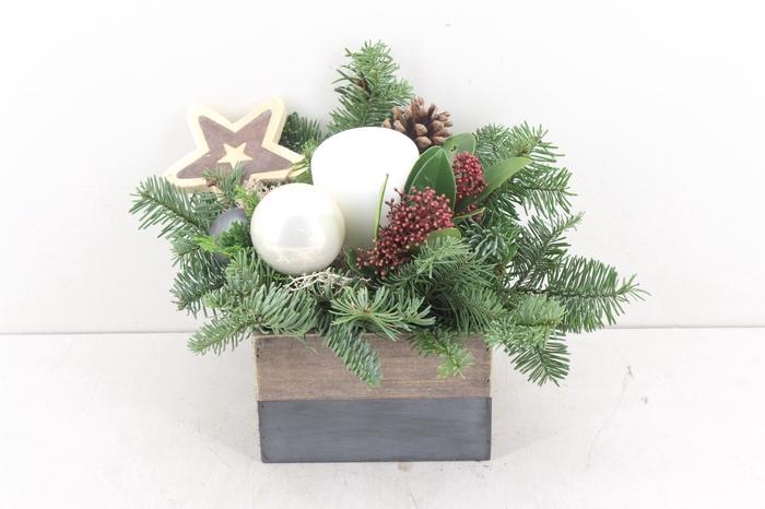 <h4>arr.. Kerst PL - Hout 4kant stomp wit</h4>