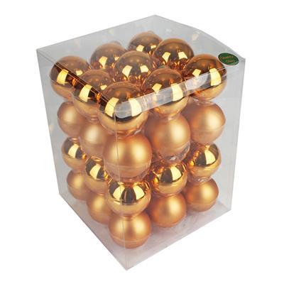 <h4>Boules de nöel en tube 57mm cuivre ass. 36 pcs</h4>