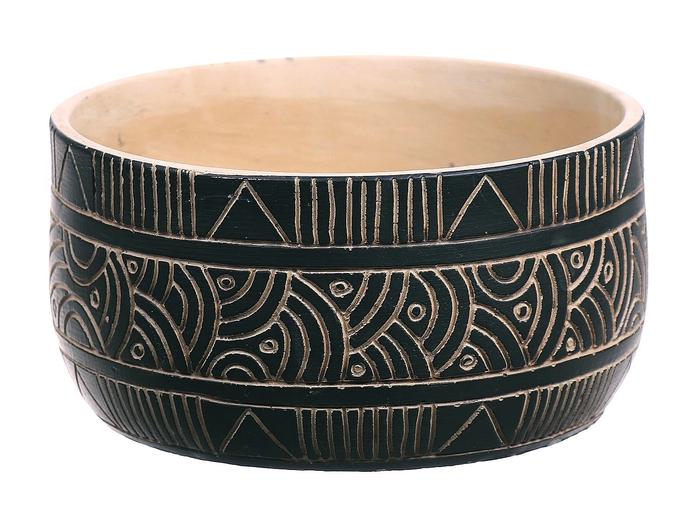 <h4>DF560375800 - Bowl Kailua d19.5xh10.2 black</h4>