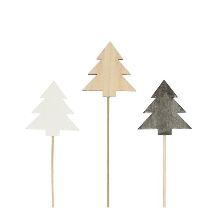 <h4>Kerst bijsteker 20cm Hout boom d8cm</h4>