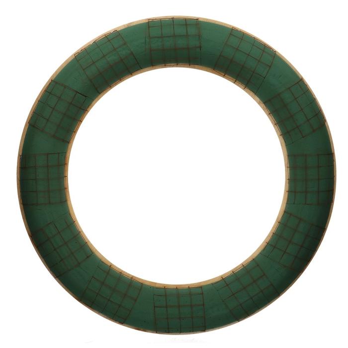 <h4>Foam Basic Wreath+wood d65cm</h4>