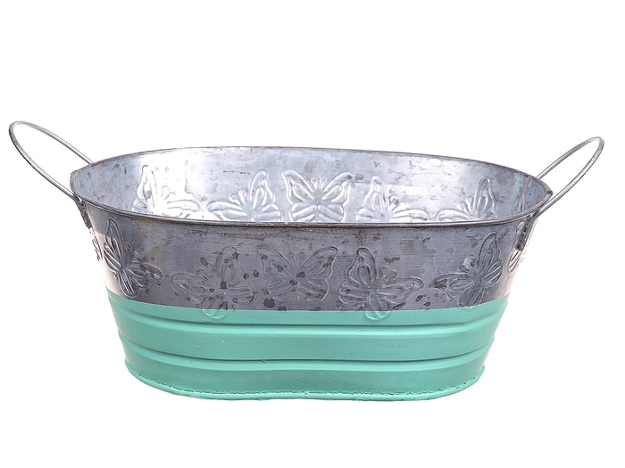 <h4>DF662730700 - Planter Terrie oval 26x17.5xh11 green</h4>