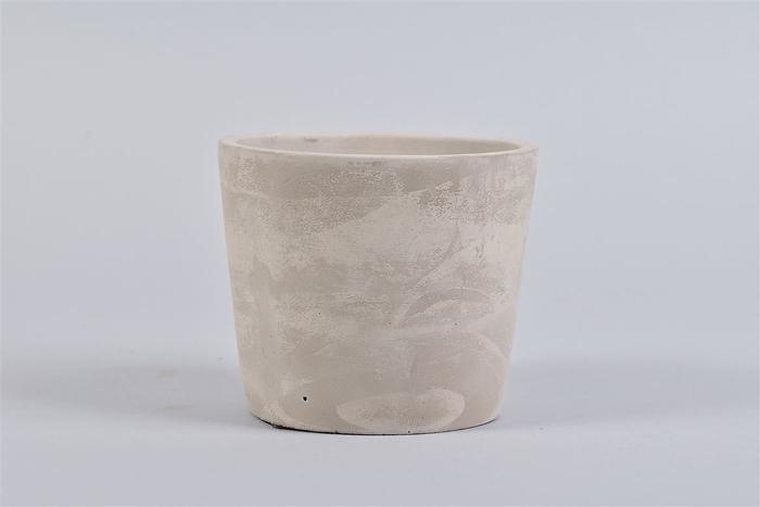 <h4>Beton Pot Rond Grijs 13x11cm</h4>