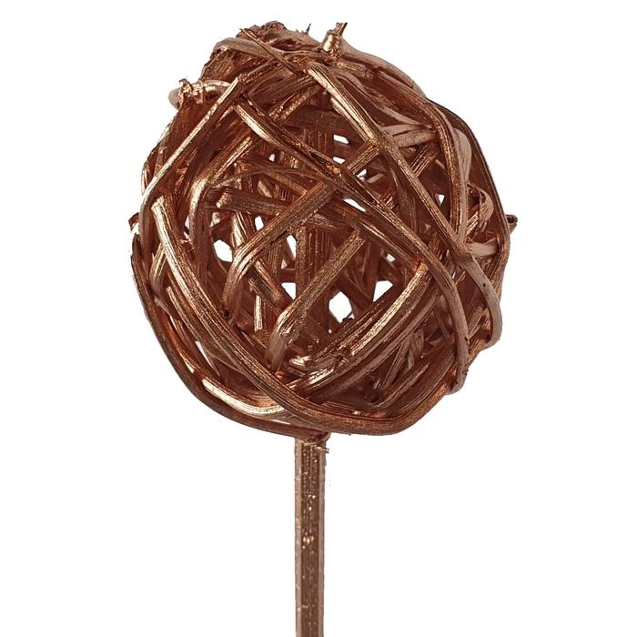 <h4>Bruce ball 5cm on stem Copper</h4>