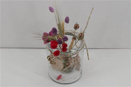 <h4>Arr. Driedflowers Glass Rome</h4>