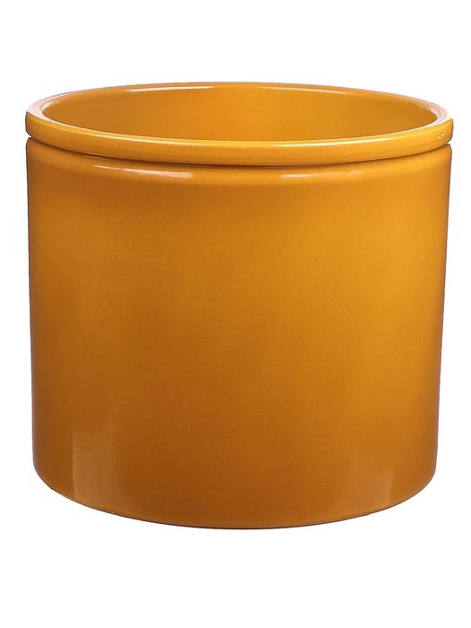 <h4>DF883676300 - Pot Lucca1 d27.8xh25.7cm curry glazed</h4>