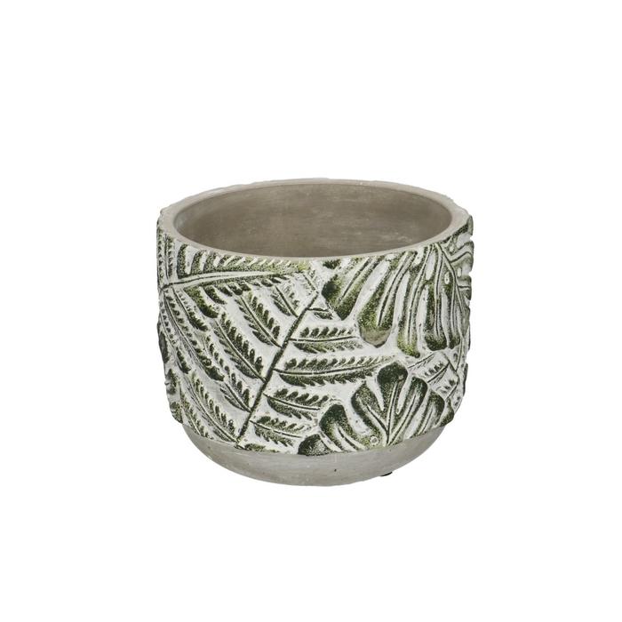 <h4>Keramiek Stone Leaf pot d13.5*11cm</h4>