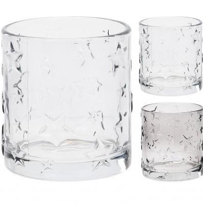 <h4>Candlelight Glass deco star d7*8cm ass</h4>