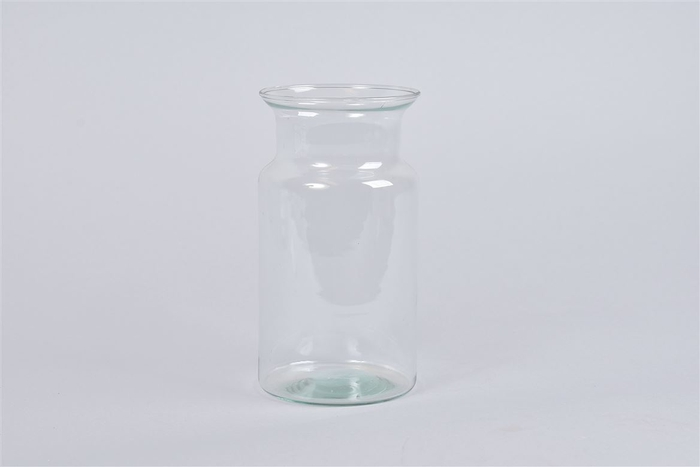 <h4>Glas Melkbus Vaas Eco 10x18cm</h4>