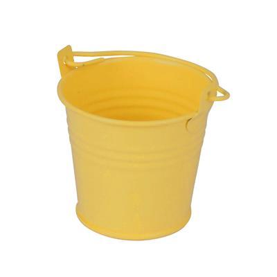 <h4>Bucket Sevilla zinc Ø6,3xH5,7cm -ES5,5 yellow matt</h4>