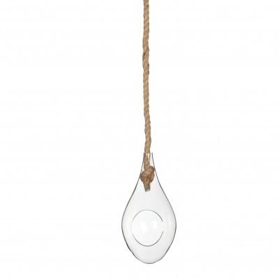 <h4>Glas Hanger druppel+touw d10*20cm</h4>