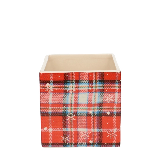<h4>Christmas Cube chequered d12*12cm</h4>